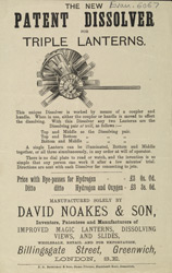 Advert for Noakes & Son, magic lantern manufacturers